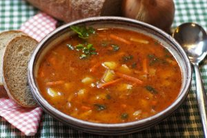 Indian Cauliflower and Chickpea Soup