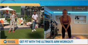 Erin's Leg Workout on BT Breakfast Television